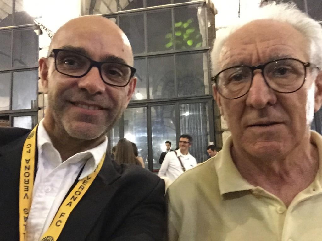 L'autore con il Mago della Bovisa, Osvaldo Bagnoli