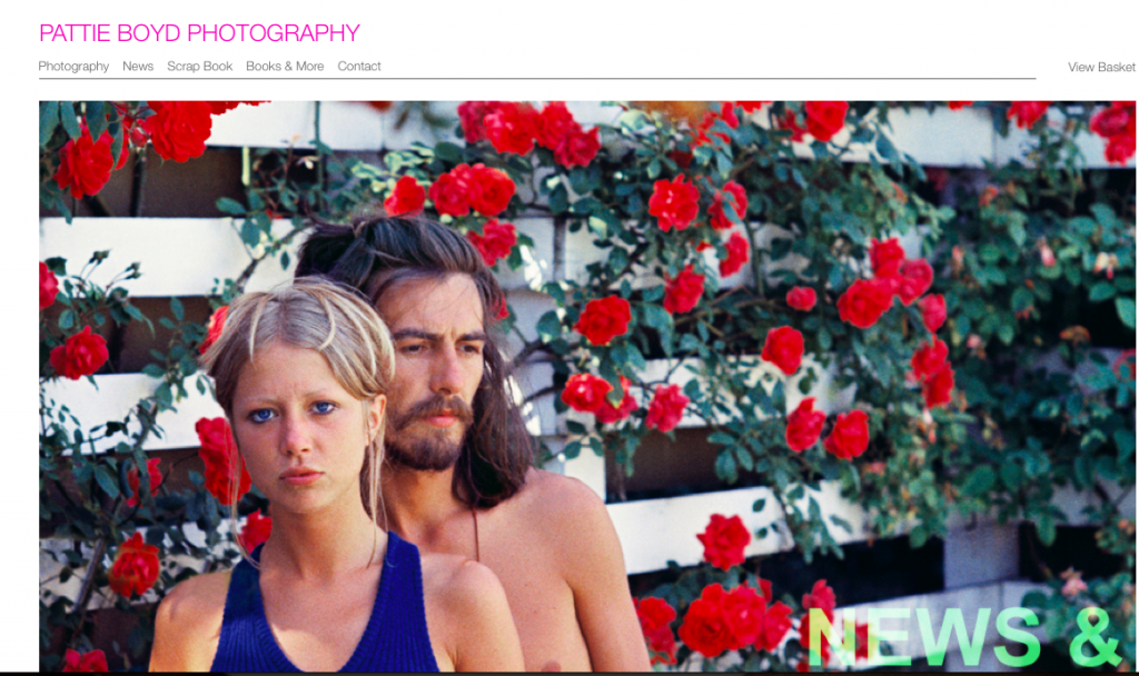 Pattie Boyd Website