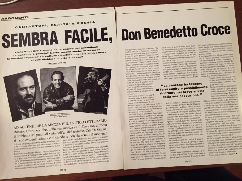 Fare Musica, dicembre '92